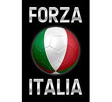Forza Italia - Italian Flag - Football or Soccer Ball & Text 2 Photographic Print