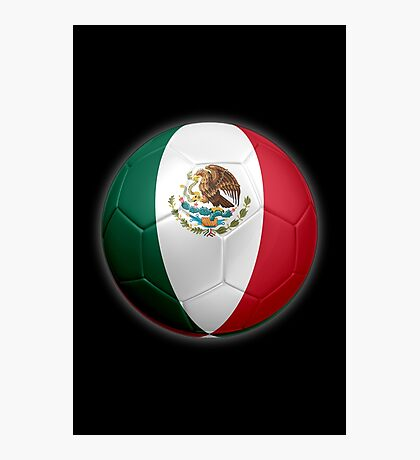 Mexico - Mexican Flag - Football or Soccer 2 Photographic Print