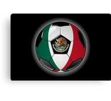 Mexico - Mexican Flag - Football or Soccer Canvas Print