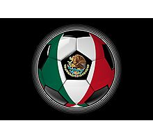 Mexico - Mexican Flag - Football or Soccer Photographic Print