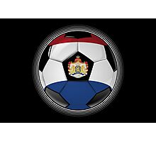 Netherlands - Dutch Flag - Football or Soccer Photographic Print