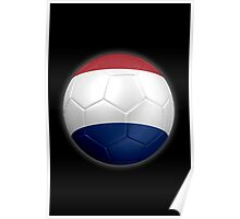 Netherlands - Dutch Flag - Football or Soccer 2 Poster