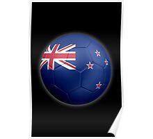 New Zealand Flag - Football or Soccer 2 Poster