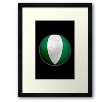 Nigeria - Nigerian Flag - Football or Soccer 2 Framed Print