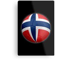 Norway - Norwegian Flag - Football or Soccer 2 Metal Print