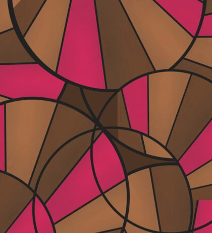 Brown pink pattern abstract . Sticker