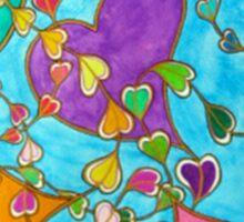 Hearts in Flight Sticker