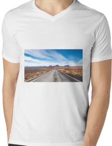 Monument Valley National Park in Arizona, USA Mens V-Neck T-Shirt