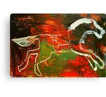 white mane Canvas Print