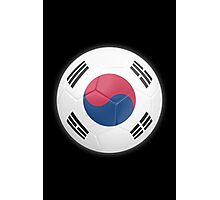 South Korea - South Korean Flag - Football or Soccer 2 Photographic Print