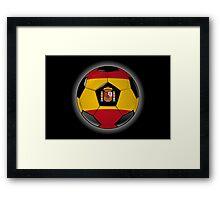 Spain - Spanish Flag - Football or Soccer Framed Print
