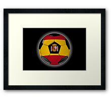 Spain - Spanish Flag - Football or Soccer Framed Print
