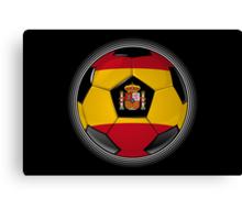 Spain - Spanish Flag - Football or Soccer Canvas Print
