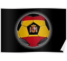 Spain - Spanish Flag - Football or Soccer Poster