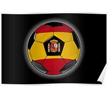 Spain - Spanish Flag - Football or Soccer Poster