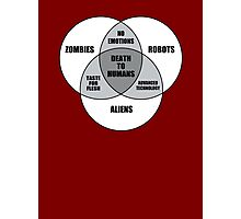 Zombie Alien Robot Venn Diagram Photographic Print
