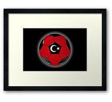 Turkey - Turkish Flag - Football or Soccer Framed Print