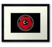Turkey - Turkish Flag - Football or Soccer Framed Print