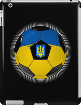 Ukraine - Ukrainian Flag - Football or Soccer by graphix