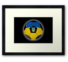 Ukraine - Ukrainian Flag - Football or Soccer Framed Print