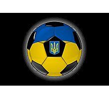 Ukraine - Ukrainian Flag - Football or Soccer Photographic Print
