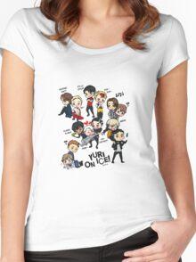 Yuri On Ice - Full Chibi Team! Women's Fitted Scoop T-Shirt