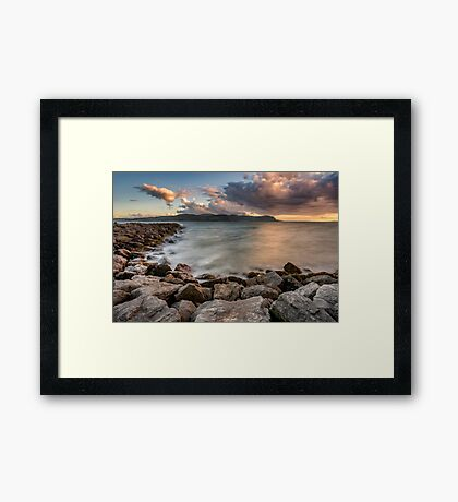 West Shore Sunset Framed Print