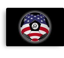 USA - American Flag - Football or Soccer Canvas Print