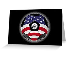 USA - American Flag - Football or Soccer Greeting Card