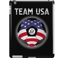 Team USA - American Flag - Football or Soccer Ball & Text iPad Case/Skin
