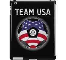 Team USA - American Flag - Football or Soccer Ball & Text iPad Case/Skin