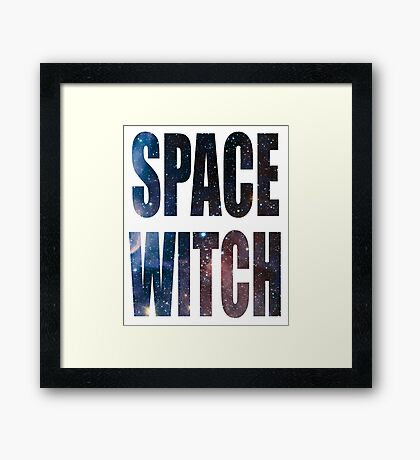 Space Witch Framed Print