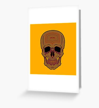 Striped Skull Greeting Card