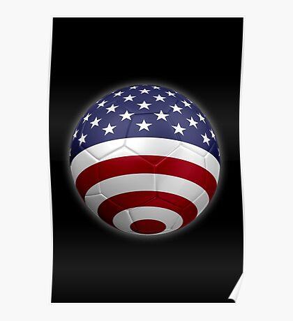 USA - American Flag - Football or Soccer 2 Poster