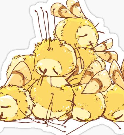 fluff pile Sticker