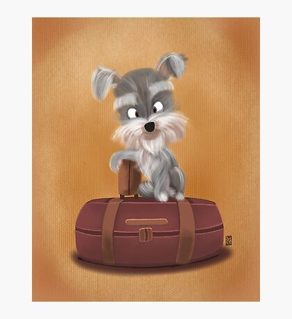 Traveler Puppy Photographic Print