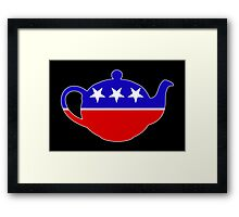 Tea Party - Republican Teapot Framed Print