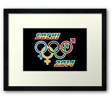 Sochi Equality Framed Print