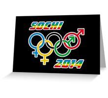 Sochi Equality Greeting Card