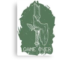 Game Over Link Canvas Print