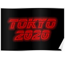 Tokyo 2020 - Red Neon Poster
