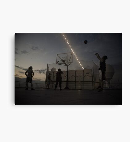The Great Game of Basketball Canvas Print