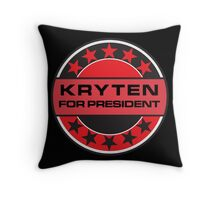 KRYTEN FOR PRESIDENT [RED DWARF] Throw Pillow
