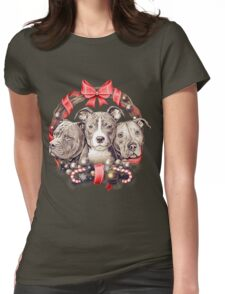 It's a Pit Bull Christmas Womens Fitted T-Shirt