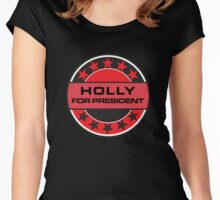 HOLLY FOR PRESIDENT [RED DWARF] Women's Fitted Scoop T-Shirt