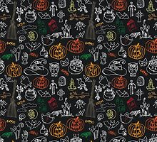 HaHalloween elements pattern by Tatiakost
