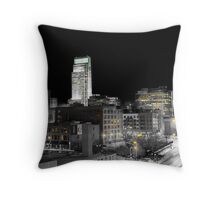 Omaha Night Lights Throw Pillow