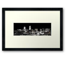 Omaha Night Lights Framed Print