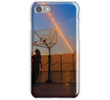 Playing Basketball in the Sunset iPhone Case/Skin
