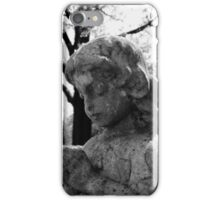 Praying Girl On Cold Winters Day iPhone Case/Skin